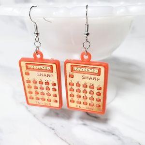 Vintage 1980's Calculator Kitsch Toy Earrings